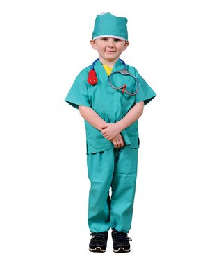 Green Surgeon Scrubs Dress-Up Set - Kids