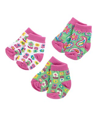 Tutti-Frutti Three-Pair Socks Set