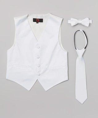 White Vest Set - Boys