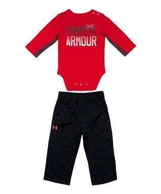 Red Horizon Logo Bodysuit & Pants - Infant