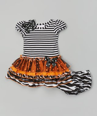 Black & Orange Tutu Dress - Infant, Toddler & Girls