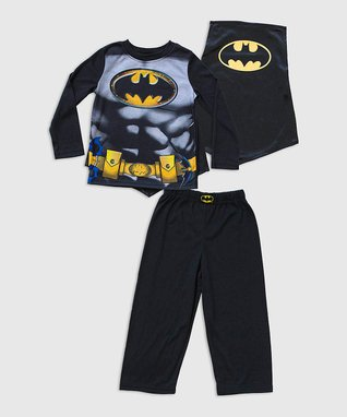 Black Batman Cape Pajama Set - Boys & Toddler