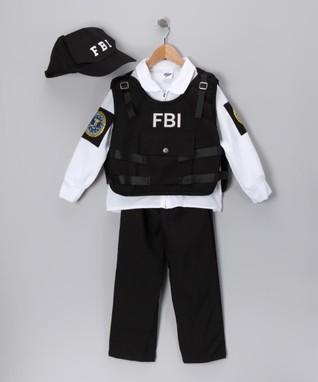 Black FBI Agent Dress-Up Set - Kids