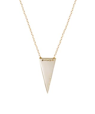 Gold 'Strength' Triangle Pendant Necklace