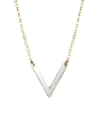 Two-Tone 'Balance' Pendant Necklace