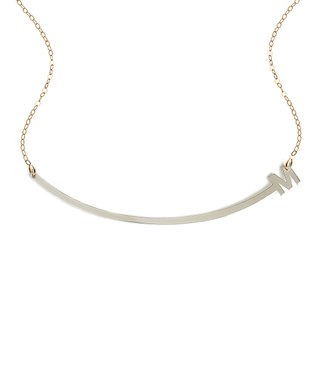 Two-Tone Initial Arch Necklace