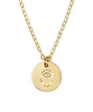 Gold Hamsa Pendant Necklace
