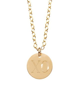 Gold 'XO' Pendant Necklace