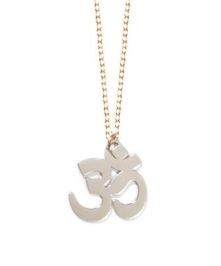 Two-Tone Om Pendant Necklace
