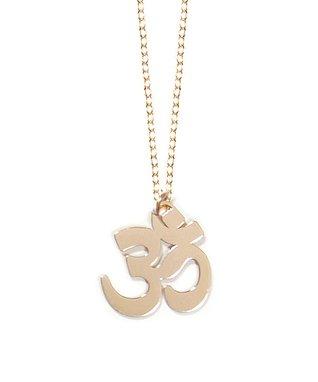 Gold Om Pendant Necklace