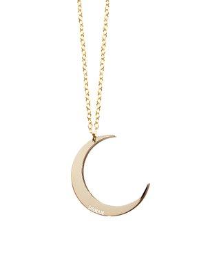 Gold Dream Moon Pendant Necklace