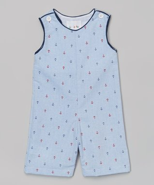 Blue Anchor Shortalls - Infant & Toddler