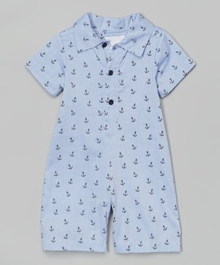 Blue Anchor Romper - Infant & Toddler