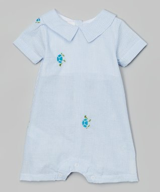 Blue Turtle Romper - Infant & Toddler