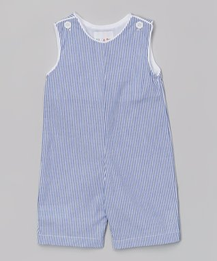 Blue Stripe Shortalls - Infant & Toddler