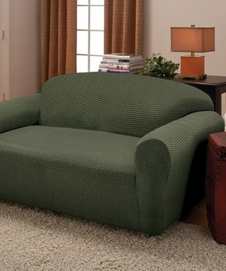 Loden Raise The Bar Stretch Sofa Slipcover