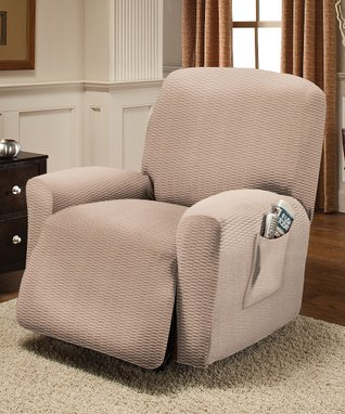 Natural Raise The Bar Stretch Recliner Slipcover