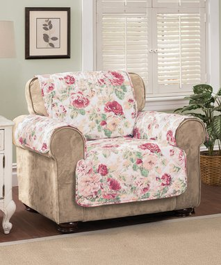 Tea Rose English Floral Furniture Chair Protector