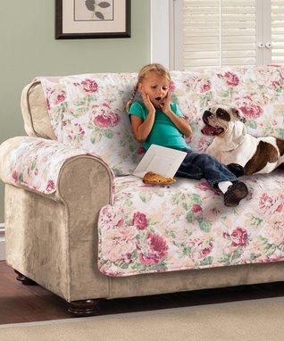 Tea Rose English Floral Furniture Sofa Protector