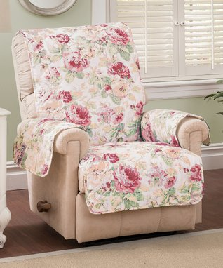 Tea Rose English Floral Furniture Recliner Protector