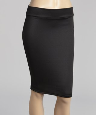 Avital Black Pencil Skirt