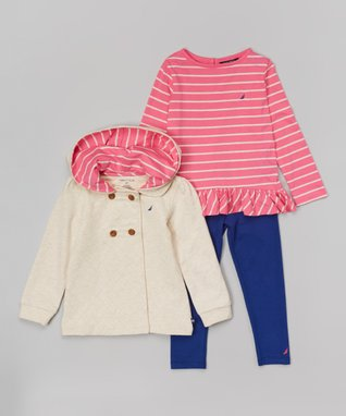 Beige Hooded Jacket Set - Infant & Toddler