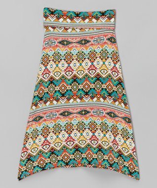 Blue & Yellow Aztec Maxi Skirt - Infant, Toddler & Girls