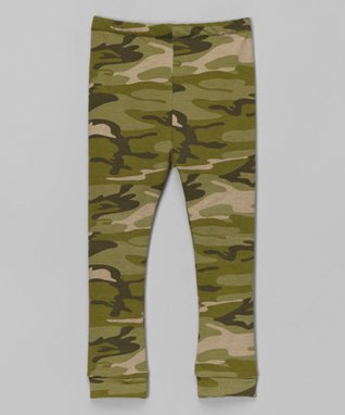 Green Camo Leggings - Infant, Toddler & Girls