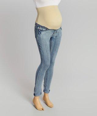 Chris & Carol Mint & Ivory Stripe Maternity Dolman Top - Women