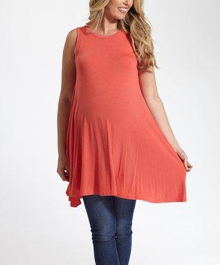 Mom & Co. Cream Scoop Neck Ruffle Maternity Top - Women