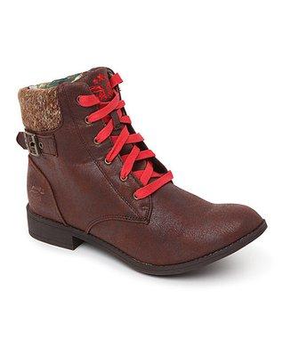 TigerBear Republik Brown & Red Wild Beam-Me-Up Boot