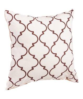 Quatrefoil Burlap Pillow