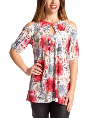 Simply Irresistible Pink Floral Sublimation Cutout Top - Women