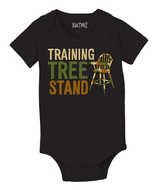 Black 'Training Tree Stand' Bodysuit - Infant