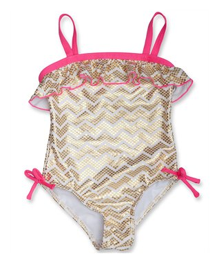 Gold Foil Goldielocks One-Piece - Infant, Toddler & Girls