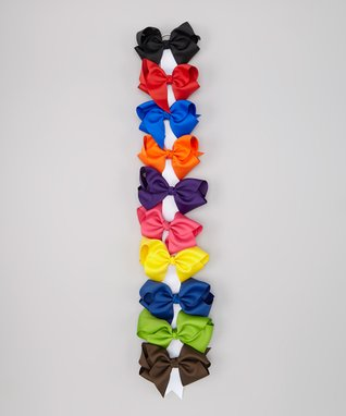 Primary 5'' Bow Clip Set