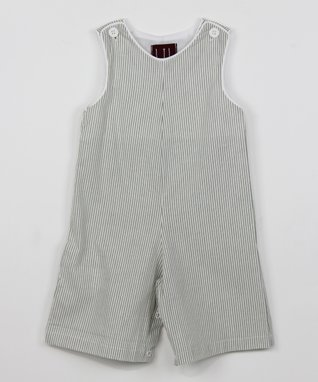 Gray Stripe Shortalls - Infant & Toddler