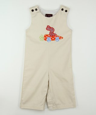 Tan Carrot Car Overalls - Infant & Toddler