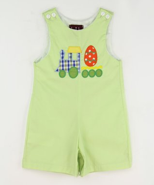 Green Egg Train Shortalls - Infant & Toddler