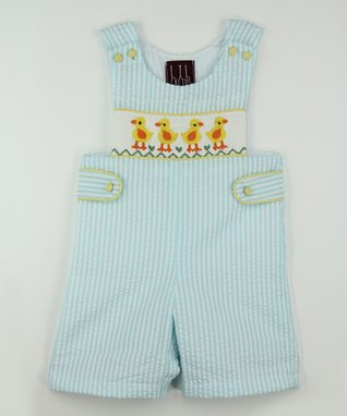 Teal Stripe Duck John Johns - Infant & Toddler