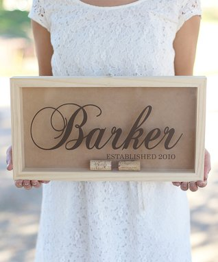 Last Name Personalized Cork Keeper