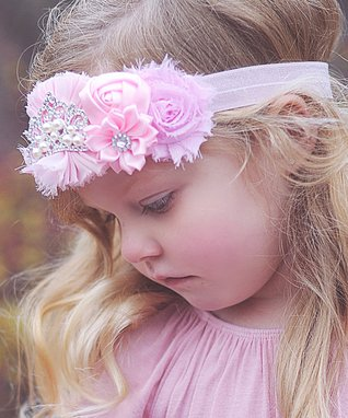 Pink Tiara Flower Headband