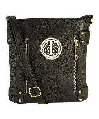 MKF Collection Black Milly Crossbody Bag