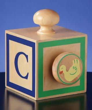 ABC Block Vintage Music Box