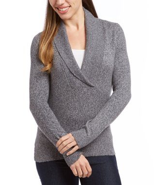 Sweater Barn Gray Surplice Sweater - Women