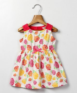 White Floral Summer Dress - Infant, Toddler & Girls
