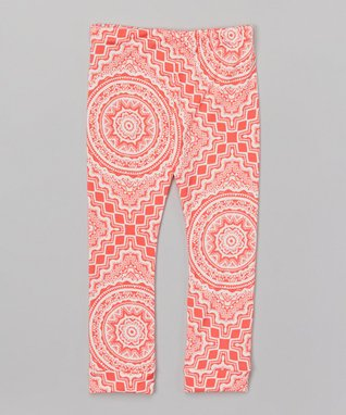 Pink & White Boho Leggings - Infant, Toddler & Girls