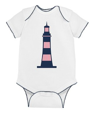 White Lighthouse Bodysuit - Infant