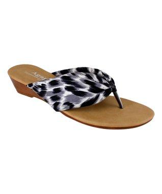 Lena Luisa Black Macy Peep-Toe Sandal