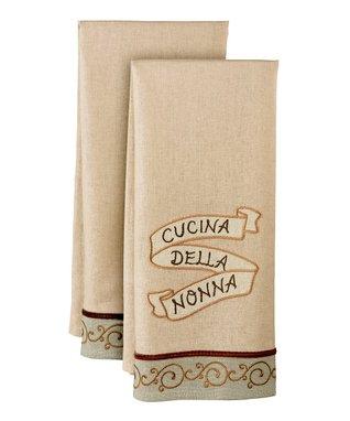 'Cucina Della Nonna' Tea Towel Set